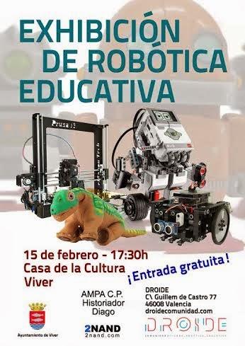 Robótica educativa en Viver el 15 de febrero